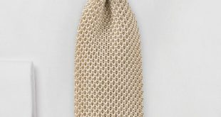 Golden Beige Colored Silk Knit Tie | Bows-N-Ties.com
