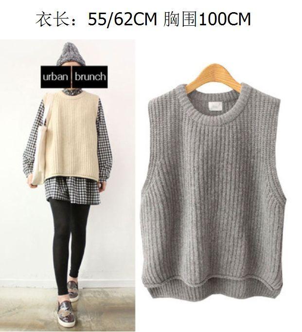 2019 New Fashion Women Sweater Vest Sleeveless Round Neck Cotton