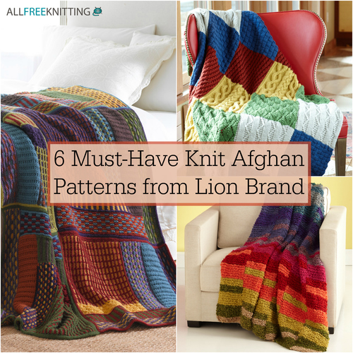 6 Must-Have Knit Afghan Patterns from Lion Brand | AllFreeKnitting.com