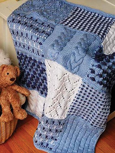 Free knitting pattern for Garden Inspired Sampler Afghan with