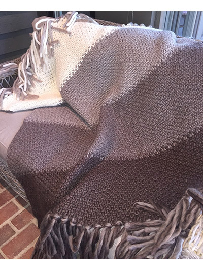 Afghan Knitting Patterns - Desert Lily Blanket Knit Pattern