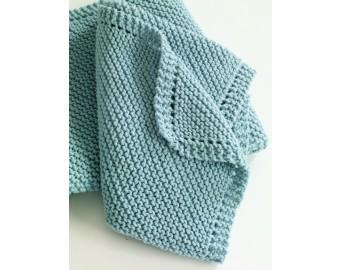 Diagonal Comfort Blanket Pattern (Knit) | Lion Brand Yarn