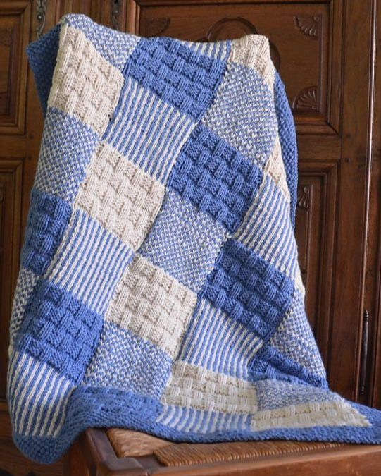Free Knitting Pattern for Patchwork Baby Blanket | Crochet and