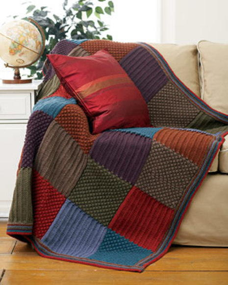 Checkered Knit Blanket | FaveCrafts.com