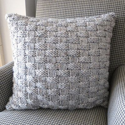 Basket Weave Pillow | Free Knitting Patterns | Knitting, Knitting