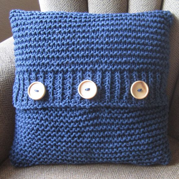 Knit pattern pdf, knit pillow cover pattern, Super Simple Pillow