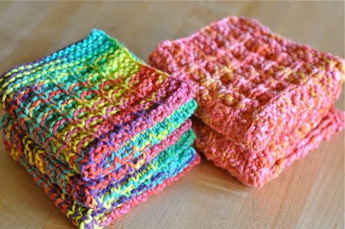 Knitting Dishcloths Free Patterns   HubPages