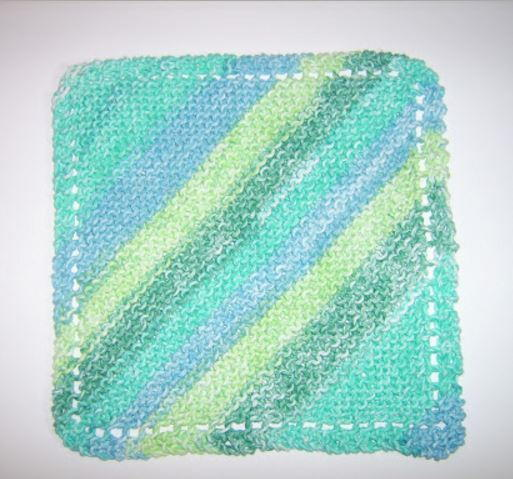 Diagonal Knit Dishcloth Pattern   AllFreeKnitting.com