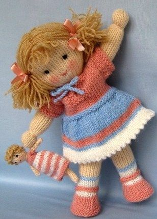 Jolly Dolly Bags - knitting patterns - INSTANT DOWNLOAD u2026   Hand