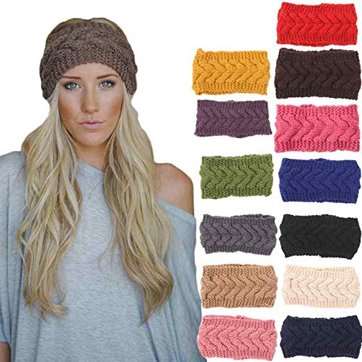 Amazon.com: Owill 1PC Women Knitted Headbands Winter Warm Head Wrap