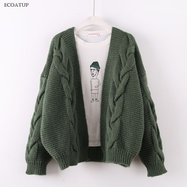 Aliexpress.com : Buy Nice Thick Knitted Cardigan Women Autumn Winter