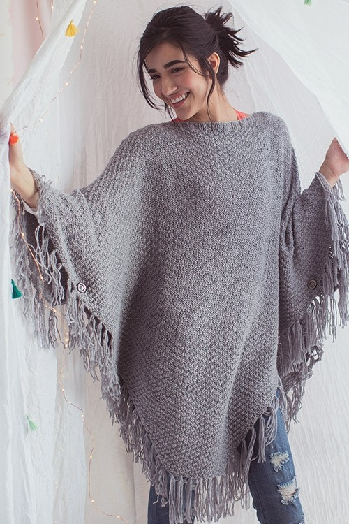 Vinter Poncho Knitting Pattern
