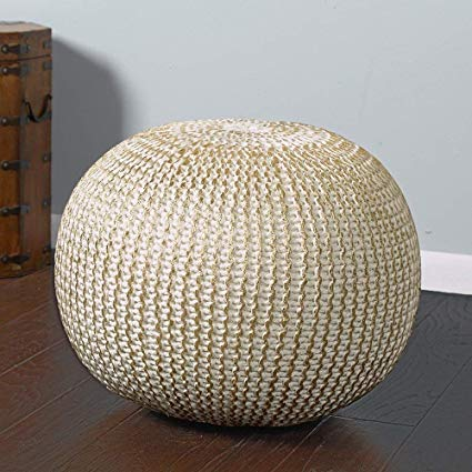 Amazon.com: L.R. Resources POUFS08125BNG1814 Fairbanks Bone Gold