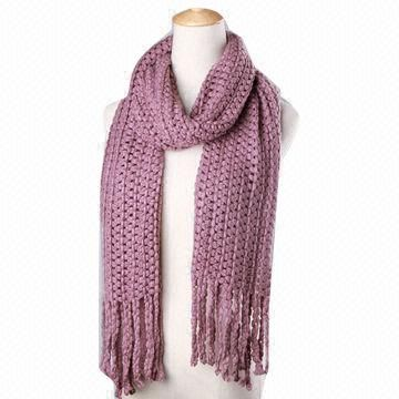 China Fashionable Plain Knitted Scarves on Global Sources