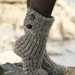 Unique ideas of wearing Knitted slipper   boots