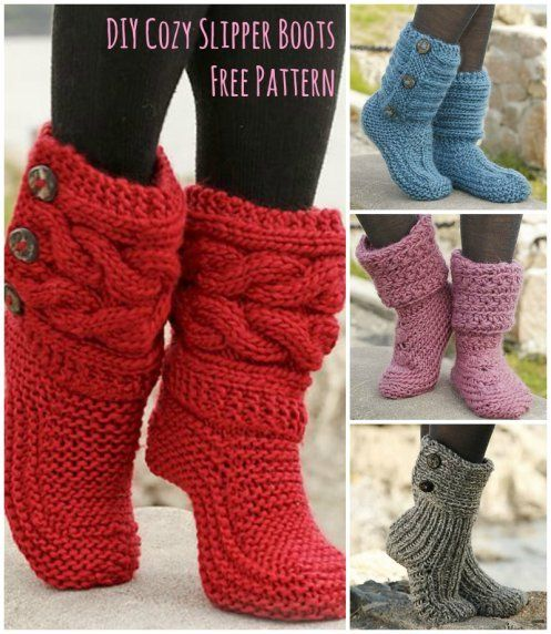 Cutest Knitted DIY: FREE Pattern for Cozy Slipper Boots | Crochet It