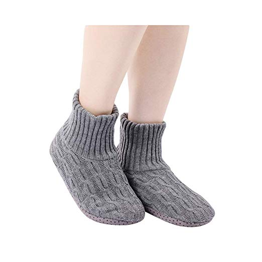 BIZAR Indoors Anti-Slip Slipper Cotton Socks Warm Knitted Socks for