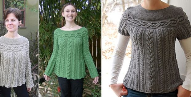 Cable Luxe Knitted Tunic [FREE Knitting Pattern]