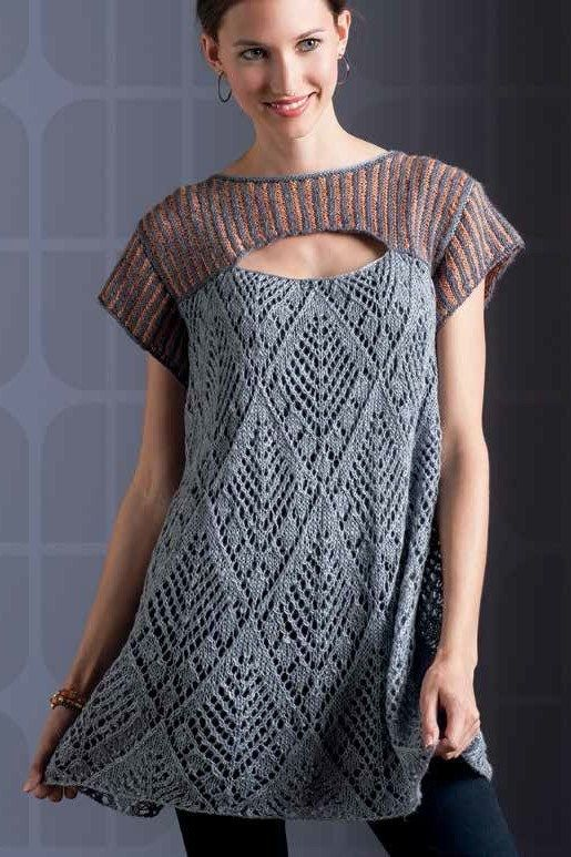 Tunic and Dress Knitting Patterns | Knitting Adult Clothing