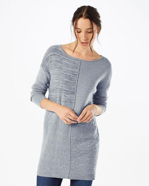 Lyst - Phase Eight Henri Patched Knitted Tunic in Gray