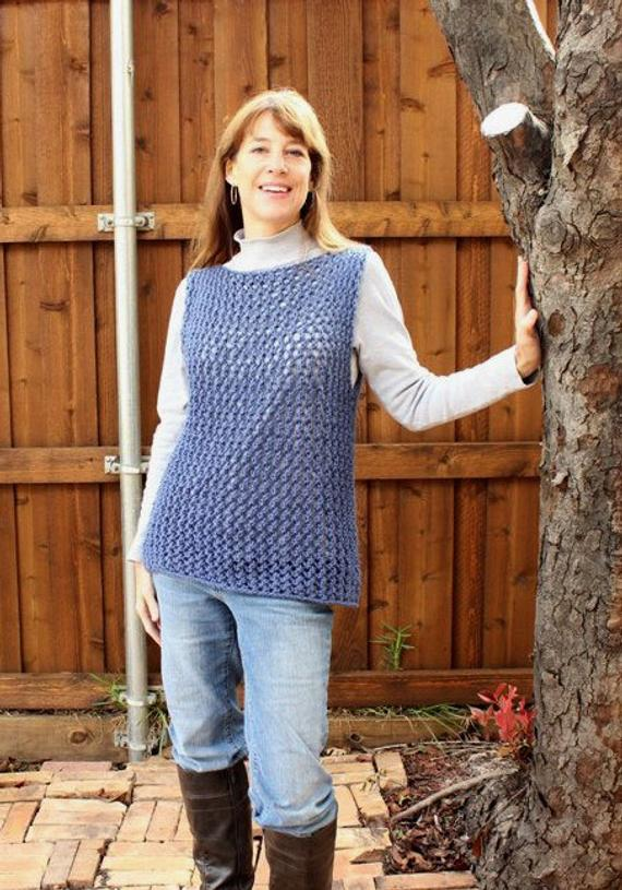 Knitting Pattern for Sweater Knitted Vest Pattern Easy Knit | Etsy