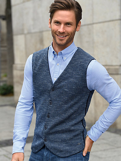 Cardigans MAERZ Muenchen - Men Clothing 3DJ892 - navy Knitted
