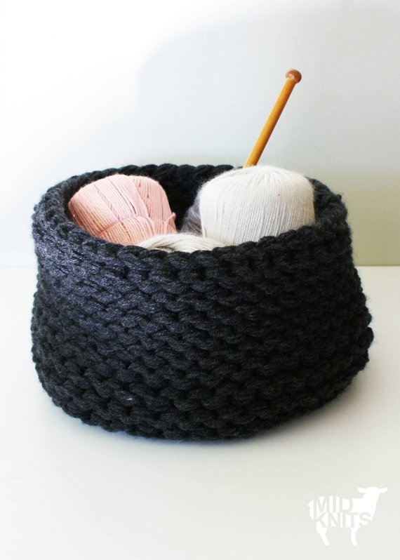 DIY Knitting PATTERN Chunky Knit Baskets 2014025: chunky | Etsy