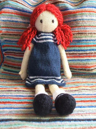 sally the eco fairy, free knitting pattern | Knitting toys