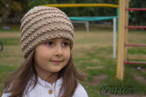 Chain Link Knit Hat Pattern | AllFreeKnitting.com