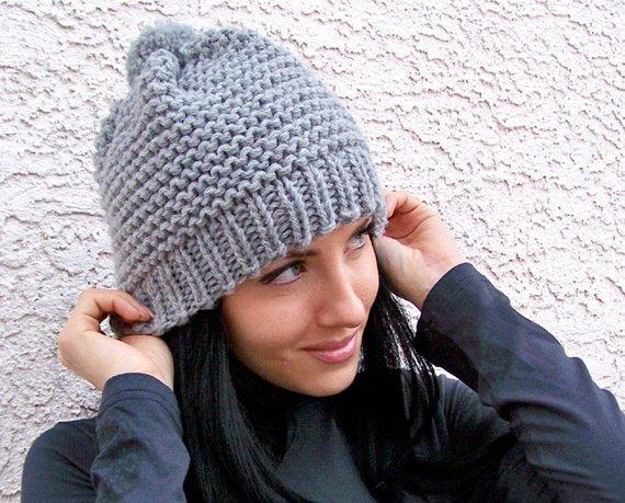 Knit Hat Pattern Knitting Pattern Hat Knit Beanie Pattern | Etsy