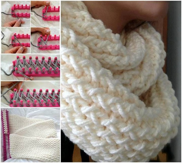 Make an Infinity Scarf With a Knitting Loom - AllDayChic