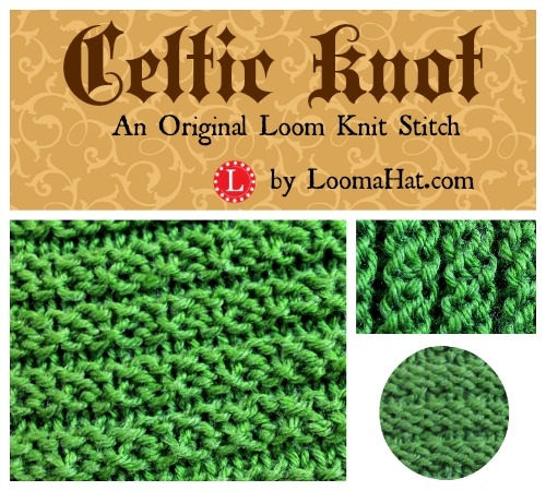 Celtic Knot Stitch - Knitting Loom