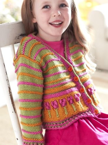 Free Pattern - Little girls look absolutely darling in the cardigan