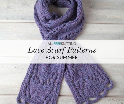 18 Lace Knitting Patterns for Scarves | AllFreeKnitting.com