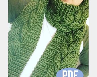 Knit scarf pattern   Etsy