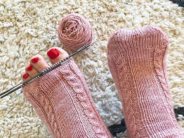 My Socks Knitting Journey - Pair #8 - Hand dyed wool - CrochetObjet