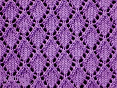 Openwork Diamonds - Pattern 1 - Knitting Stitch Patterns
