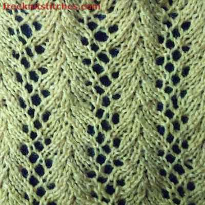 Lace knitting stitches free patterns Shower