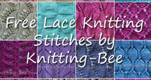 38+ Free Knitting Lace Stitches with Written Patterns (54 free