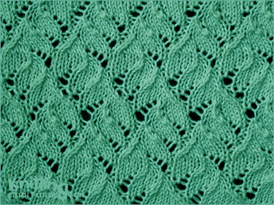 Chinese Lace - kniting in the round - Knitting Stitch Patterns