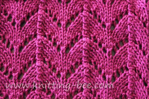 Horseshoe Lace Knitting Stitch ⋆ Knitting Bee