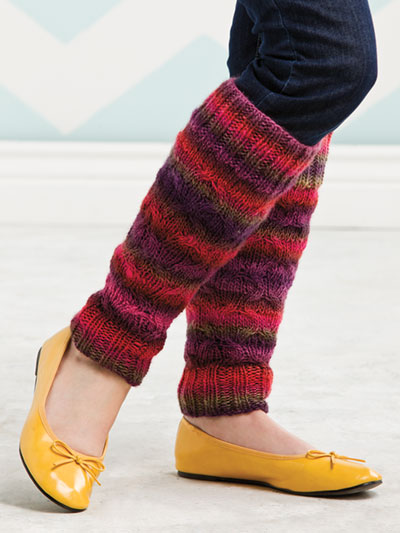 Accessory Knitting Downloads - Colorfully Comfy Leg Warmers Knit Pattern