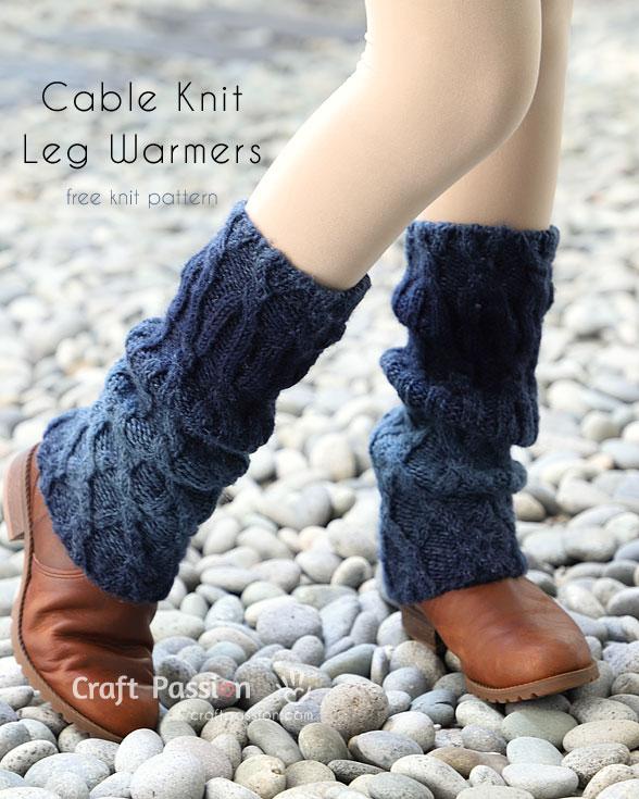 Cable Knit Leg Warmers - Free Knitting Pattern | Craft Passion |