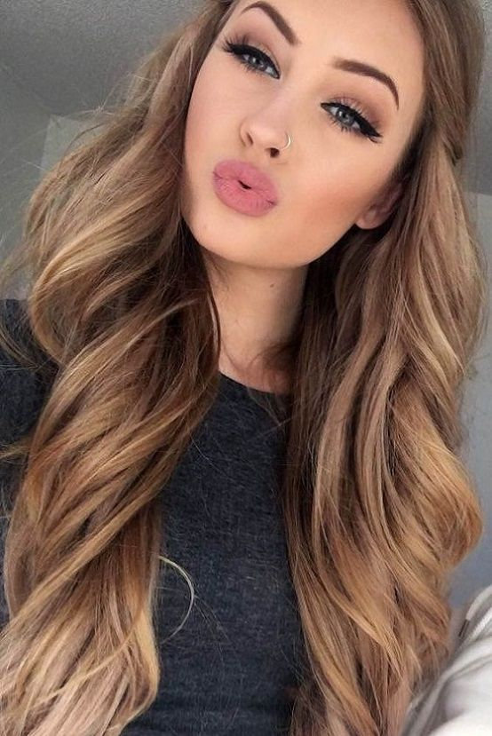 23 Light Brown Hair Color with High and Low Lights   Hair Color
