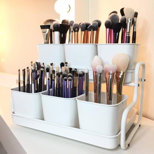 12 IKEA Makeup Storage Ideas You'll Love | makeup tipzzz | Makeup