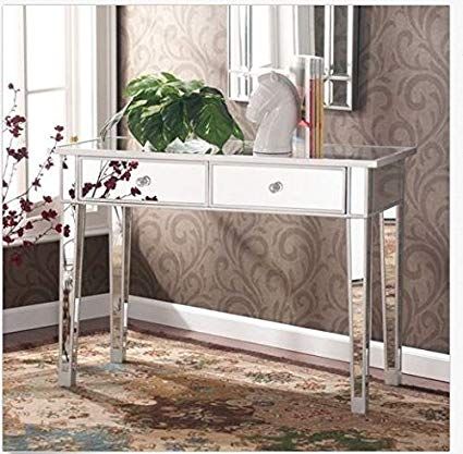 Amazon.com: Mirrored Vanity Make-Up Table: Kitchen & Dining