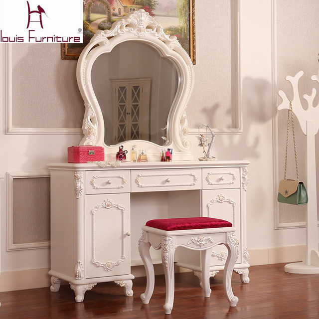Large sized apartment bedroom make up table solid wood high quality