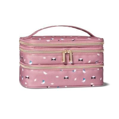 Sonia Kashuk™ Triple Zip Train Case Makeup Bag - Pink : Target