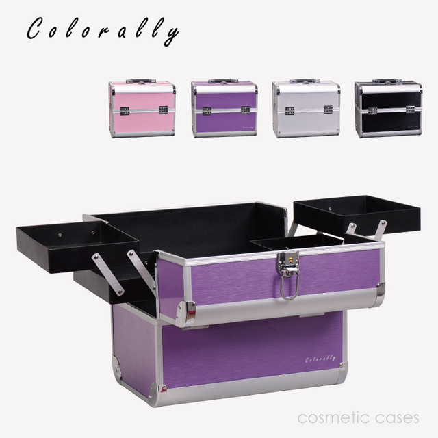 4 Colors Aluminum Fashion Makeup Box Beauty Box with Inner Tray