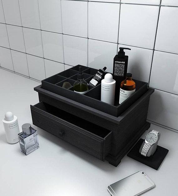 wooden makeup organizer wooden cosmetic organizer Bath organizer for